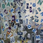 Detail of Raining Letters.